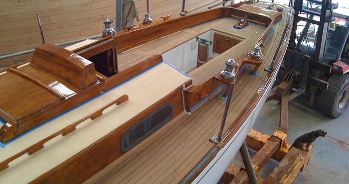 Teak deck restoration