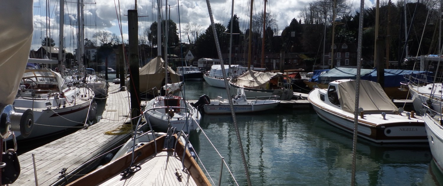 The moorings on a sunny day