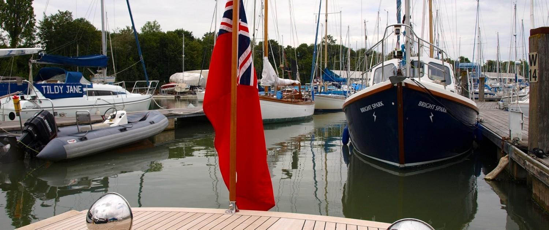 Nigella stern and boats on moorings