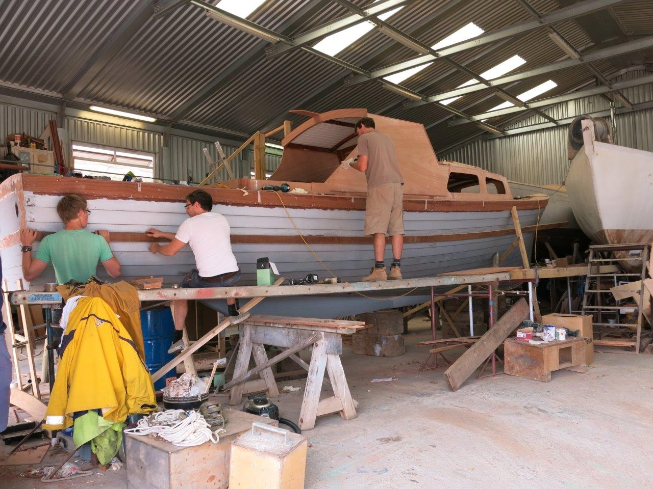 Nigella restoration project team at work