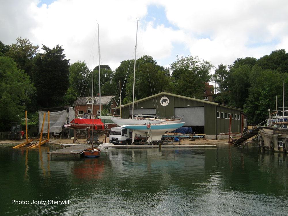 Elephant Boatyard at high tide