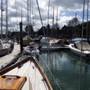 Sheltered Moorings on the River Hamble