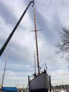 New Mast and crane